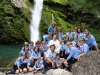 Il branco alla cascata della Plera