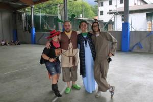 Gatto con gli stivali, Shrek, Fiona e Chiucchino